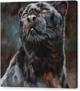 Black Leopard Canvas Print