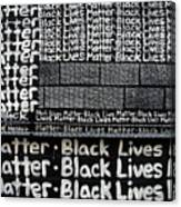 Black Lives Matter Wall Part 2 Of 9 Canvas Print
