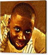 Young Black Male Teen 1 Canvas Print