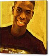 Young Black Male Teen 2 Canvas Print