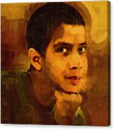 Young Black Male Teen 3 Canvas Print