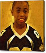 Young Black Male Teen 6 Canvas Print