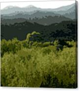 Black Mountains Canvas Print