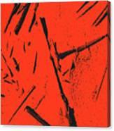 Black On Red Canvas Print