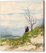 Black Robe Canvas Print