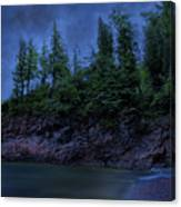 Black Rocks, Dark Sky Canvas Print
