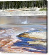 Black Sand Basin Geysers In Yellowstone National Park Canvas Print