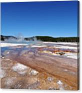 Black Sand Basin In Yellowstone National Park Canvas Print