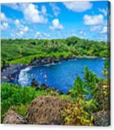 Black Sand Beach - Maui Hi Canvas Print