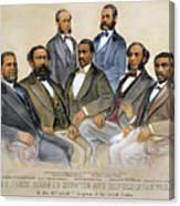 Black Senators, 1872 Canvas Print
