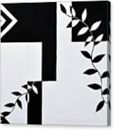 Black Vs White Again Canvas Print