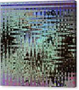 Black Walnut Ink Tepary Bean Abstract Canvas Print