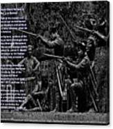 Black When Haitians Were Heroes In America Series Print No. 2 With Text Canvas Print