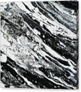 Black White Modern Art Canvas Print