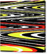 Black Yellow Red White Abstract Canvas Print
