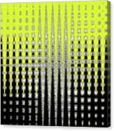 Black Yellow White With Abstract Action Canvas Print