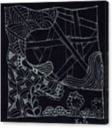 Black Zen 4 Canvas Print