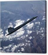 Blackbird Going Supersonic Canvas Print