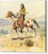 Blackfoot Indian. A Crow Scout Canvas Print