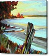 Blackie Spit Meets Mud Bay Canvas Print