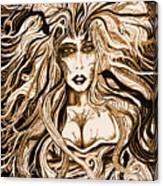 Blackmedusa-sepia Canvas Print