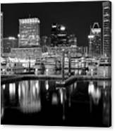 Blackness In The Harbor Canvas Print