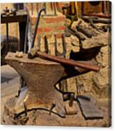 Blacksmith - Anvil And Hammer Canvas Print