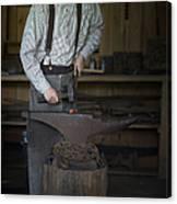 Blacksmith At Work Canvas Print