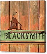 Blacksmith Sign Canvas Print