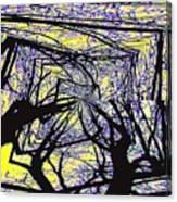 Blacky Bear Forest Canvas Print