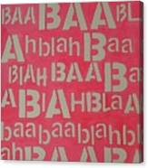 Blah Blah Baa Canvas Print
