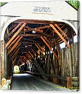 Blair Bridge, Campton Nh Canvas Print