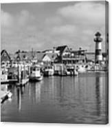 Black And White Oceanside California Marina  Canvas Print