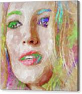 Blake Lively Watercolor Canvas Print