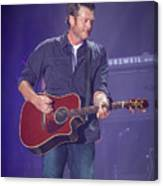 Blake Shelton Guitar 4 Canvas Print