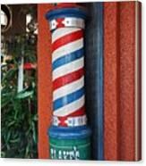 Blake's Barbershop Pole Vector I Canvas Print