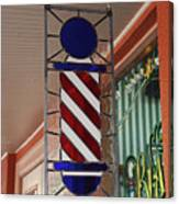 Blake's Barbershop Pole Vector II Canvas Print