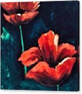 Bleeding Petals Canvas Print