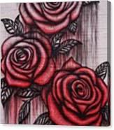 Bleeding Roses Canvas Print