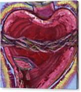 Bleeding Sacred Heart Canvas Print