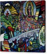 Blessing Of El Pescadero Mural Canvas Print