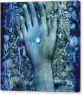 Bleu Danse Macabre Canvas Print