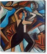 Bleu Danse Canvas Print