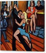 Bleu Tango Canvas Print