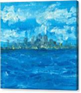 Bleueseas Canvas Print