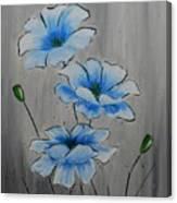 Bleuming Canvas Print
