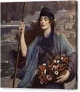 Blind Girl Of Pompeii Canvas Print