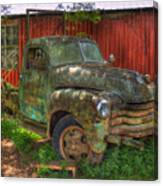 Blind In One Eye 1947 Chevy Flatbed Truck Art Canvas Print