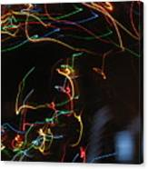 Blizzard Of Colorful Lights. Dancing Lights Series Canvas Print