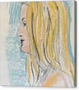 Blonde With Long Hair Canvas Print